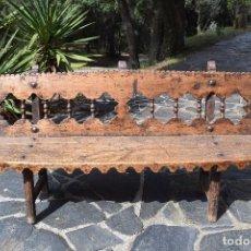 Antigüedades: BANCO ANTIGUO DE MADERA. Lote 115282291