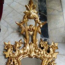 Antigüedades: CORNUCOPIA ISABELINA, 120 CM, SIGLO XIX TALLA EN MADERA DORADA EN ORO FINO. Lote 115286451