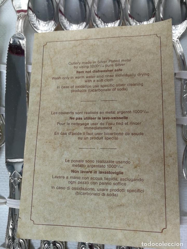 Antigüedades: PRECIOSA CUBERTERIA COMPLETA ITALIANA DE PLATA AG 800 - 12 SERVICIOS - BONITO LABRADO EN CADA CUBIER - Foto 6 - 157251556