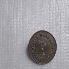 Antigüedades: CARTAYA HUELVA ANTIGUA MATRIZ DE MEDALLA DE HERMANDAD SACRAMENTAL. Lote 115323859