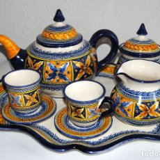 Antigüedades: JUEGO CAFÉ CERÁMICA - TALAVERA. Lote 115343583