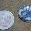 Antigüedades: PAREJA DE PLATOS FINALES SIGLO XX , MARCADOS. Lote 115344603