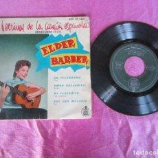 Discos de vinilo: FESTIVAL DE LA CANCION ESPAÑOLA BENIDOR 1959 ELDER BARBER UN TELEGRAMA AMOR CALLADITO MI PLATERIO ... Lote 115356095