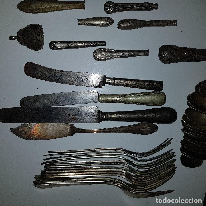 Antigüedades: LOTE CUBIERTOS PLATA - Foto 9 - 115369167