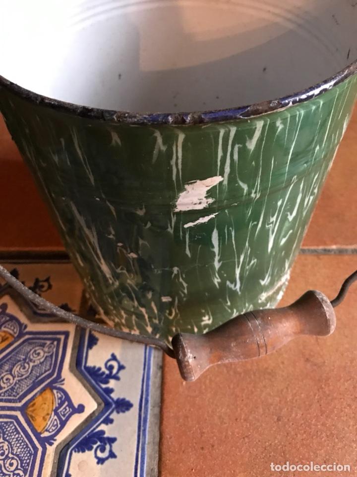 Antigüedades: Jarra y cubo de porcelana esmaltada - Foto 3 - 115399795