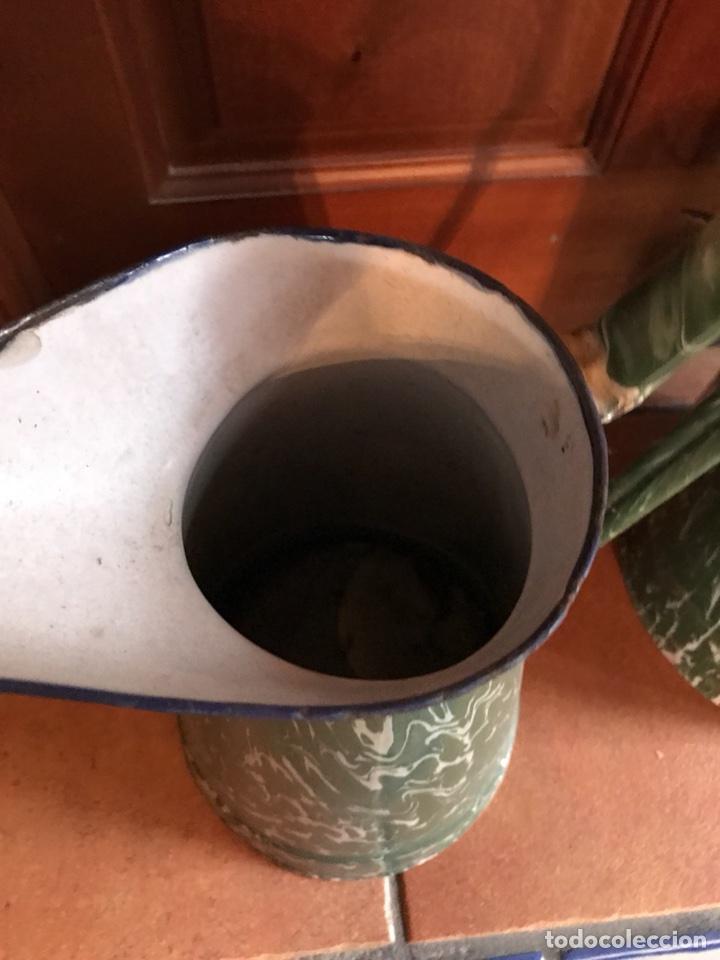 Antigüedades: Jarra y cubo de porcelana esmaltada - Foto 5 - 115399795