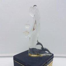 Antigüedades: ORIGINAL LAMPARITA ANTIGUA EN CRISTAL DE MURANO DE FELIGRESA DEL MUSEO DE LOURDES.. Lote 115411091
