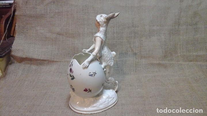 Antigüedades: Dama-florero con piel de conejo . . Marcada Heubach 1882-1905. Schutz-marke ( dep) - Foto 6 - 131085468