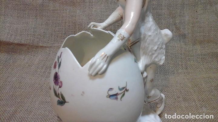 Antigüedades: Dama-florero con piel de conejo . . Marcada Heubach 1882-1905. Schutz-marke ( dep) - Foto 7 - 131085468