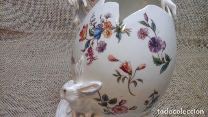Antigüedades: Dama-florero con piel de conejo . . Marcada Heubach 1882-1905. Schutz-marke ( dep) - Foto 8 - 131085468