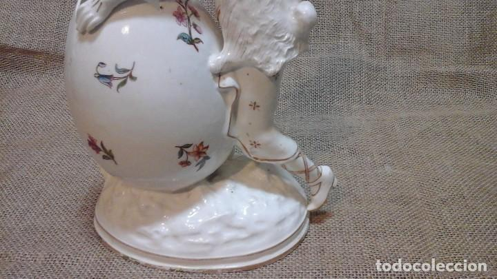 Antigüedades: Dama-florero con piel de conejo . . Marcada Heubach 1882-1905. Schutz-marke ( dep) - Foto 9 - 131085468
