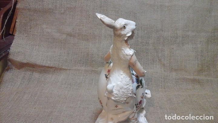 Antigüedades: Dama-florero con piel de conejo . . Marcada Heubach 1882-1905. Schutz-marke ( dep) - Foto 11 - 131085468