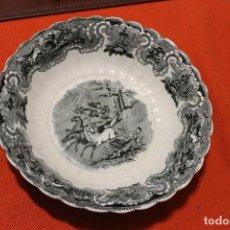 Antigüedades: BIZCOCHERA O FUENTE REDONDA GALLONADA, DE CARTAGENA. Lote 119532996
