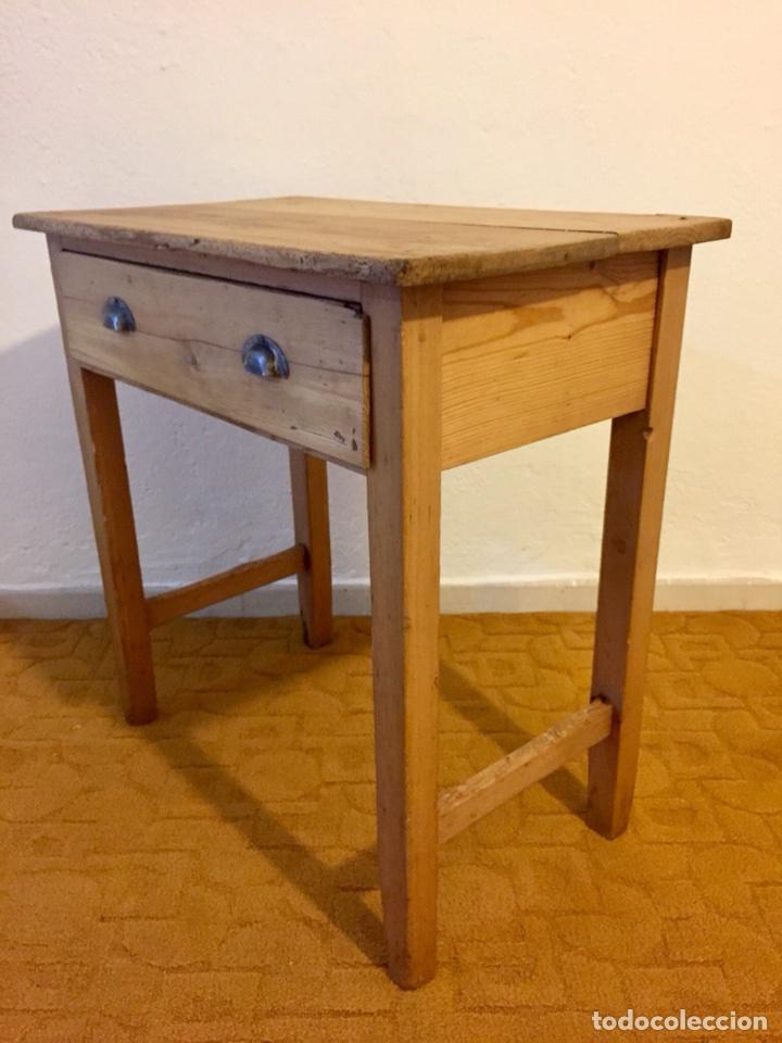 Mesa r stica de cocina con caj n comprar mesas antiguas - Mesas de cocina rusticas ...
