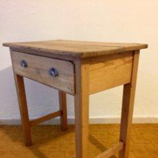 Antigüedades - Mesa rústica de cocina con cajón - mesa casa de pueblo - Despacho con cajón - 115442943