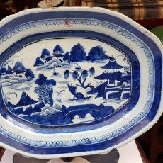 Antigüedades: FUENTE O BANDEJA EN PORCELANA CHINA SIGLO XVIII / XIX GRAN TAMAÑO. Lote 115446422