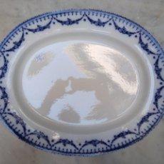 Antigüedades: BANDEJA DE LOZA VIDRIADA SIGLO XIX. Lote 115450284