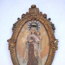 Antigüedades: VIRGEN DEL CARMEN CON NIÑO DE OLOT. Lote 115454063
