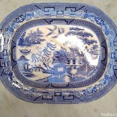 Antigüedades: BANDEJA DE LOZA VIDRIADA DEL SIGLO XIX. Lote 115454822