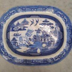 Antigüedades: BANDEJA DE LOZA VIDRIADA DEL SIGLO XIX. Lote 115456323