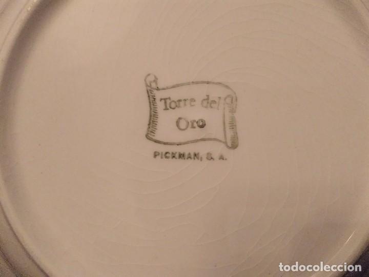 Antigüedades: RARO Y DIFICIL PLATO TORRE DEL ORO PICKMAN UNICO EN TC POSIBILIDAD E RECOGIDA EN MALLORCA - Foto 3 - 115456835