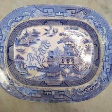 Antigüedades: BANDEJA DE LOZA VIDRIADA DEL SIGLO XIX. Lote 115457648