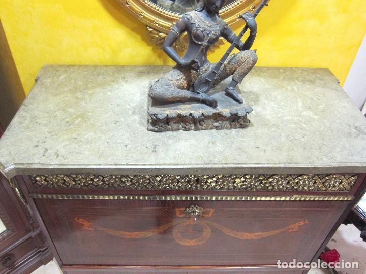 Antigüedades: Escritorio Gustaviano p.p S.XIX - Foto 8 - 115464223