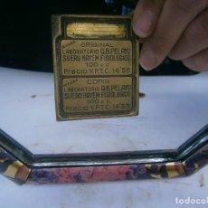 Antigüedades: PRECIOSO MOLDE DE METAL DE IMPRENTA AÑOS 30 40 ,,,SUERO,,,,,. Lote 115493923