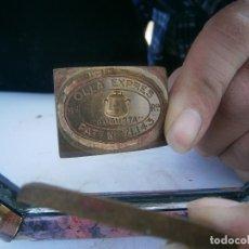 Antigüedades: PRECIOSO MOLDE DE METAL DE IMPRENTA AÑOS 30 40 OLLA EXPRES. Lote 115494503