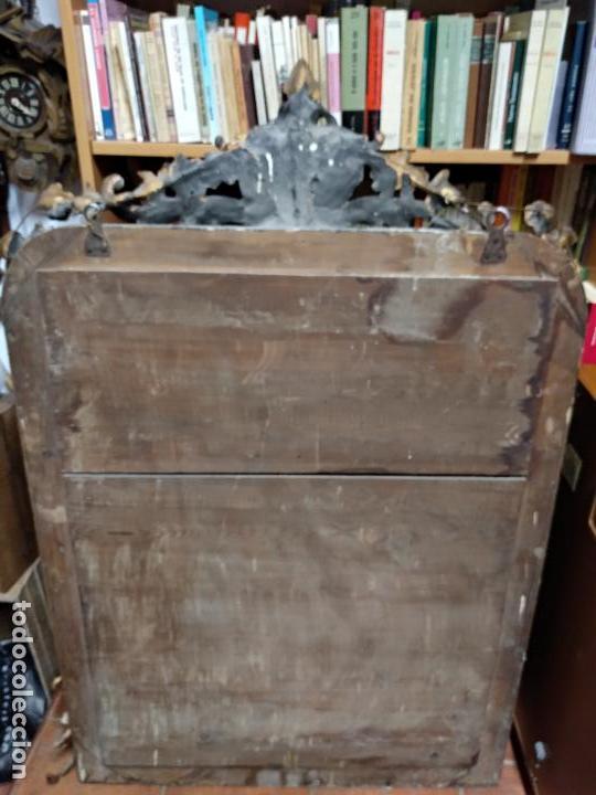 Antigüedades: GRAN ESPEJO ESTILO ISABELINO CON CORNUCOPIA - SIGLO XVIII - 140 CM DE ALTO X 86 CM. DE ANCHO - Foto 5 - 115497347