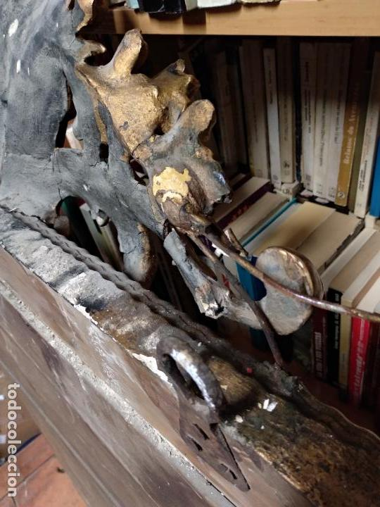 Antigüedades: GRAN ESPEJO ESTILO ISABELINO CON CORNUCOPIA - SIGLO XVIII - 140 CM DE ALTO X 86 CM. DE ANCHO - Foto 8 - 115497347