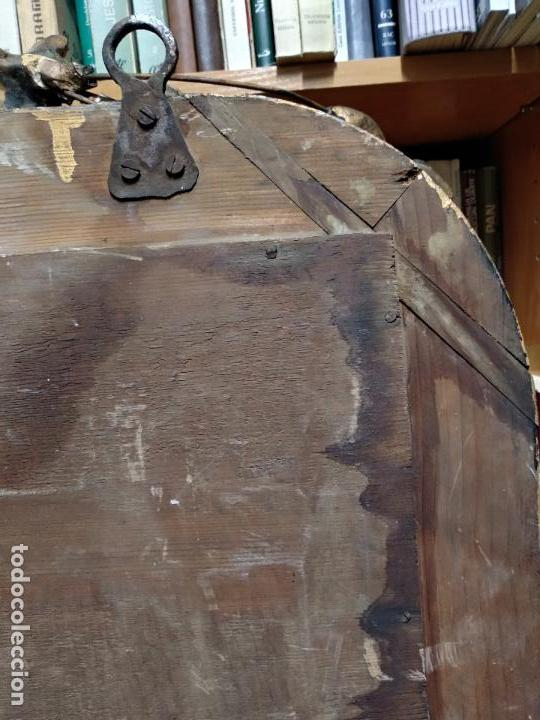 Antigüedades: GRAN ESPEJO ESTILO ISABELINO CON CORNUCOPIA - SIGLO XVIII - 140 CM DE ALTO X 86 CM. DE ANCHO - Foto 9 - 115497347