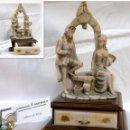 Antigüedades: ANTIGUA CAJA-JOYERO EN MADERA Y MARFILINA. -DEL VECCHIO- RCDO. DE ESTA FAMILIA DE BILBAO.. Lote 115529215
