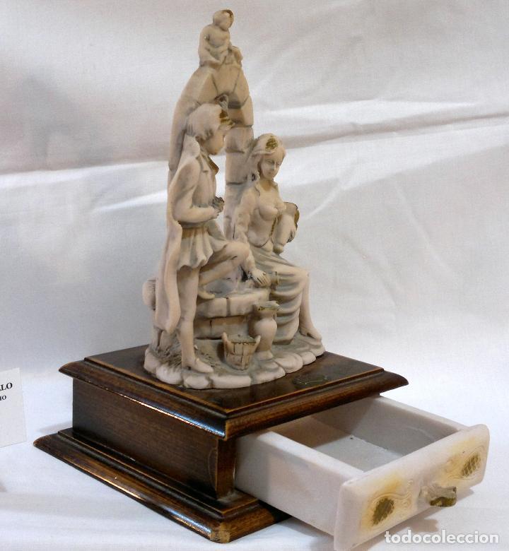 Antigüedades: ANTIGUA CAJA-JOYERO EN MADERA Y MARFILINA. -DEL VECCHIO- RCDO. DE ESTA FAMILIA DE BILBAO. - Foto 3 - 115529215