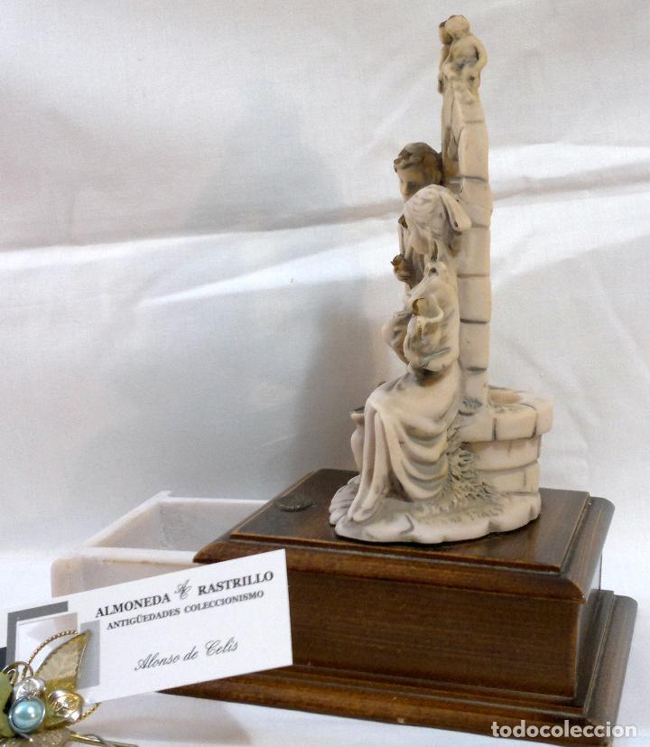 Antigüedades: ANTIGUA CAJA-JOYERO EN MADERA Y MARFILINA. -DEL VECCHIO- RCDO. DE ESTA FAMILIA DE BILBAO. - Foto 4 - 115529215