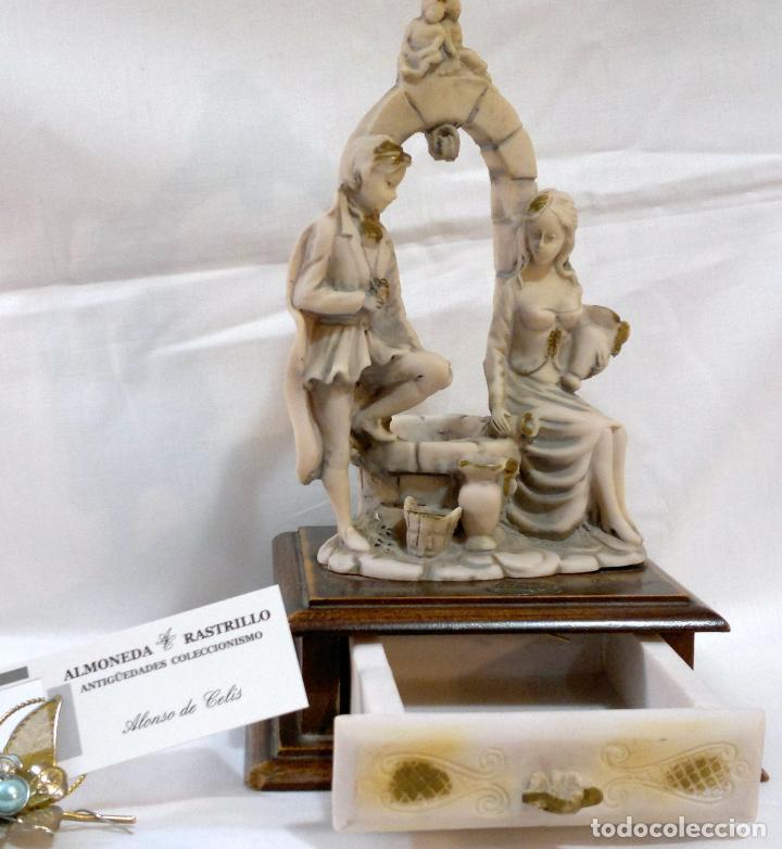 Antigüedades: ANTIGUA CAJA-JOYERO EN MADERA Y MARFILINA. -DEL VECCHIO- RCDO. DE ESTA FAMILIA DE BILBAO. - Foto 6 - 115529215