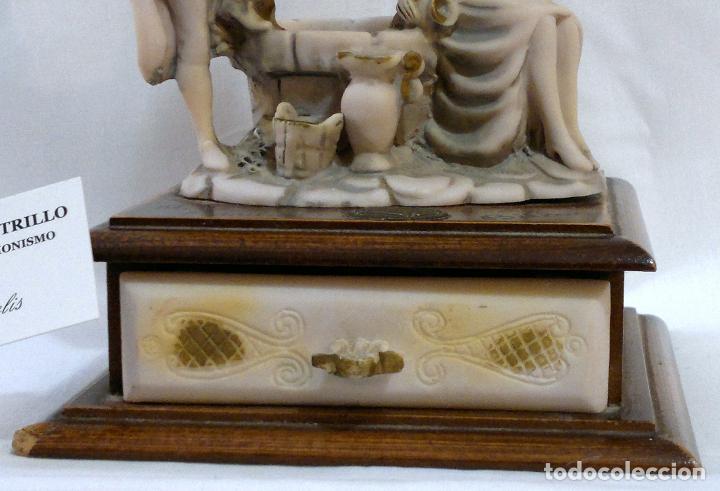 Antigüedades: ANTIGUA CAJA-JOYERO EN MADERA Y MARFILINA. -DEL VECCHIO- RCDO. DE ESTA FAMILIA DE BILBAO. - Foto 8 - 115529215