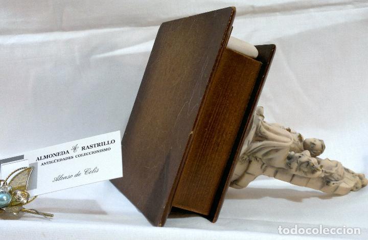 Antigüedades: ANTIGUA CAJA-JOYERO EN MADERA Y MARFILINA. -DEL VECCHIO- RCDO. DE ESTA FAMILIA DE BILBAO. - Foto 11 - 115529215