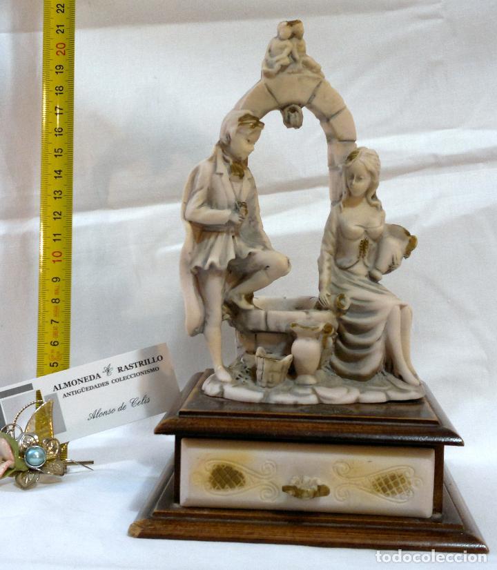 Antigüedades: ANTIGUA CAJA-JOYERO EN MADERA Y MARFILINA. -DEL VECCHIO- RCDO. DE ESTA FAMILIA DE BILBAO. - Foto 12 - 115529215