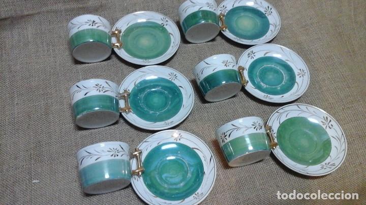 Antigüedades: Tazas con platos modernistas . 1920 - Foto 2 - 158146848