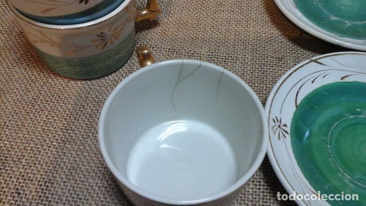 Antigüedades: Tazas con platos modernistas . 1920 - Foto 4 - 158146848