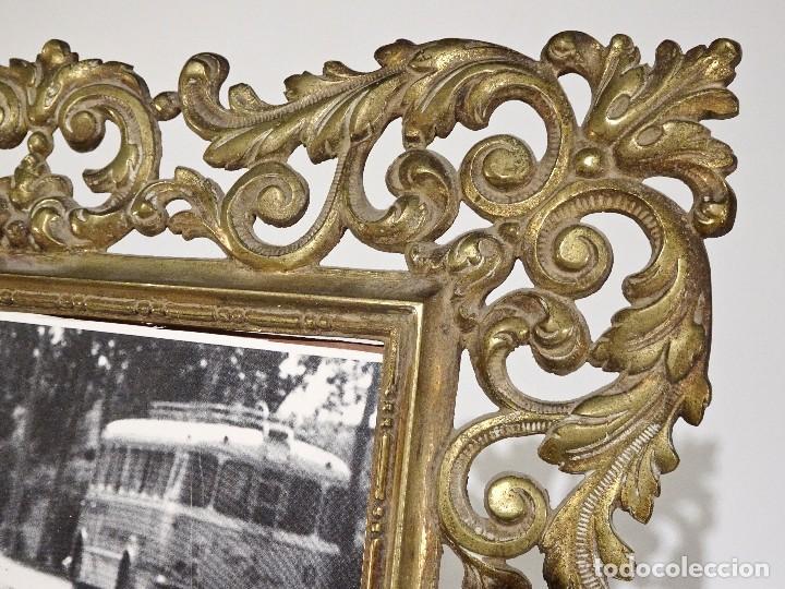 Antigüedades: MARCO DE BRONCE ESTILO ANTIGUO SIN CRISTAL - Foto 2 - 115541927