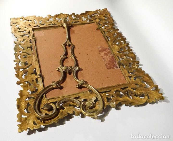 Antigüedades: MARCO DE BRONCE ESTILO ANTIGUO SIN CRISTAL - Foto 4 - 115541927