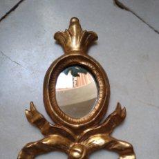 Antigüedades: CORNUCOPIA DE MADERA DORADA SIGLO XX. Lote 115544808