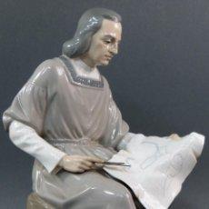 Antigüedades: FIGURA DE CRISTOBAL COLÓN DE PORCELANA NAO LLADRÓ AÑOS 70. Lote 153212140