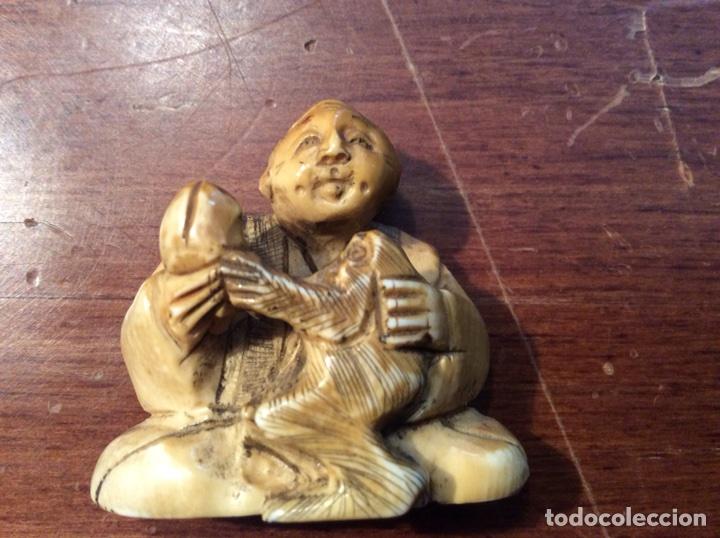 NETSUKE DE MARFIL (Antigüedades - Hogar y Decoración - Figuras Antiguas)