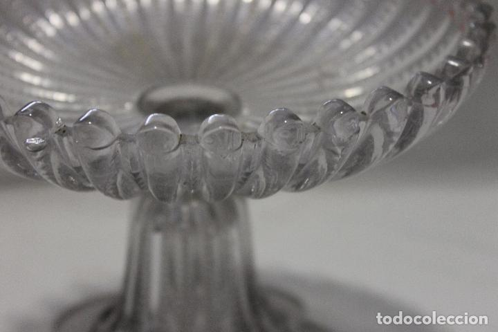 Antigüedades: GRAN FRUTERO DE CARTAGENA, CRISTAL PRENSADO - Foto 2 - 115568307