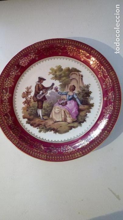 PLATO PORCELANA SANTA CLARA (Antigüedades - Porcelanas y Cerámicas - Santa Clara)