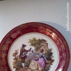 Antigüedades: PLATO PORCELANA SANTA CLARA. Lote 115571743