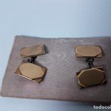 Oggetti Antichi: GEMELOS CHAPADO EN ORO ( VINTAGE ). Lote 115590703